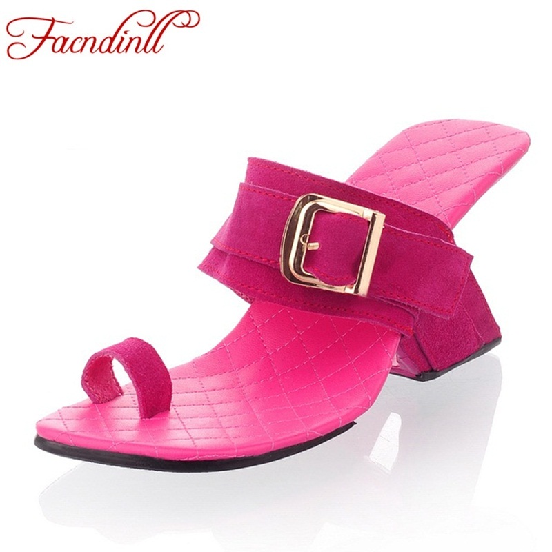 women slippers brand summer sandals 2018 ladies fashion cut-outs flip-flops suede leather sandals ladies high heel party shoes купить в Москве 2019