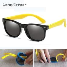 Gafas de sol polarizadas para niños LongKeeper, Gafas de silicona flexibles con espejo para niños y niñas, Gafas de sol antirreflejo UV400