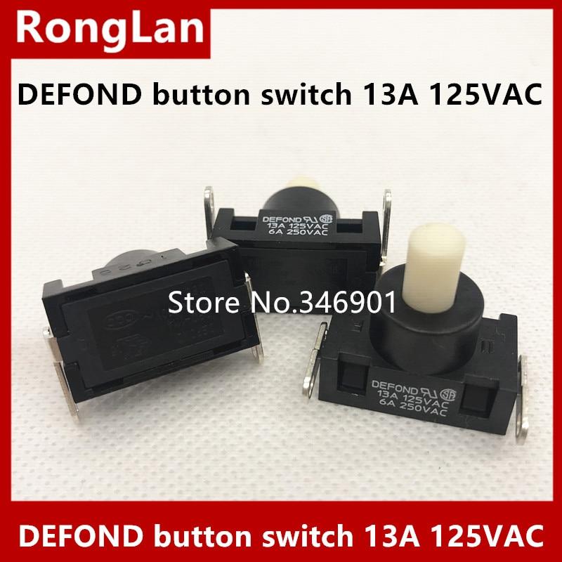 [SA]DEFOND кнопочный переключатель 13A 125 В переменного тока 6A 250 В переменного тока переключатель питания пылесоса импорт 2 фута кнопка самоблокировки 10 шт./лот switch 2 switch switchvacuum cleaner switch   АлиЭкспресс