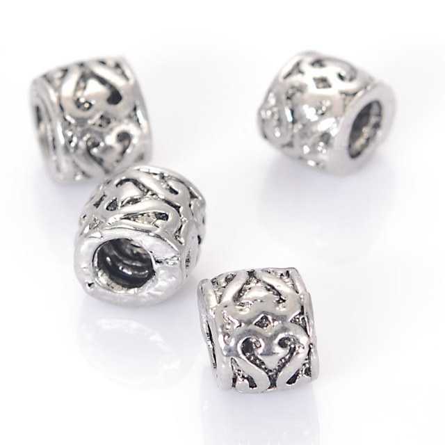 Antique Design Beads European Charm Large Hole Fits Por Brand Bracelet Troll Bracelets
