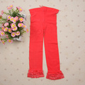 NewCandy Color Velvet Baby Kids Girl Legging Pants Colorful Lace Side Legging for Gilrs 5-9Y ZC2