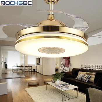 BOCHSBC Onzichtbare Plafond Ventilator Licht Plastic Ventilator Lamp Voor Woonkamer Eetkamer Slaapkamer Studeerkamer Eenvoudige Moderne LED Fan lichten