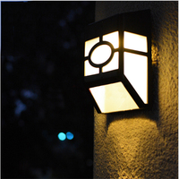 ABS IP44 Outdoor Led Solar Wall Lamp Ancient And Classical Wire Free 0 12W Light Sensor