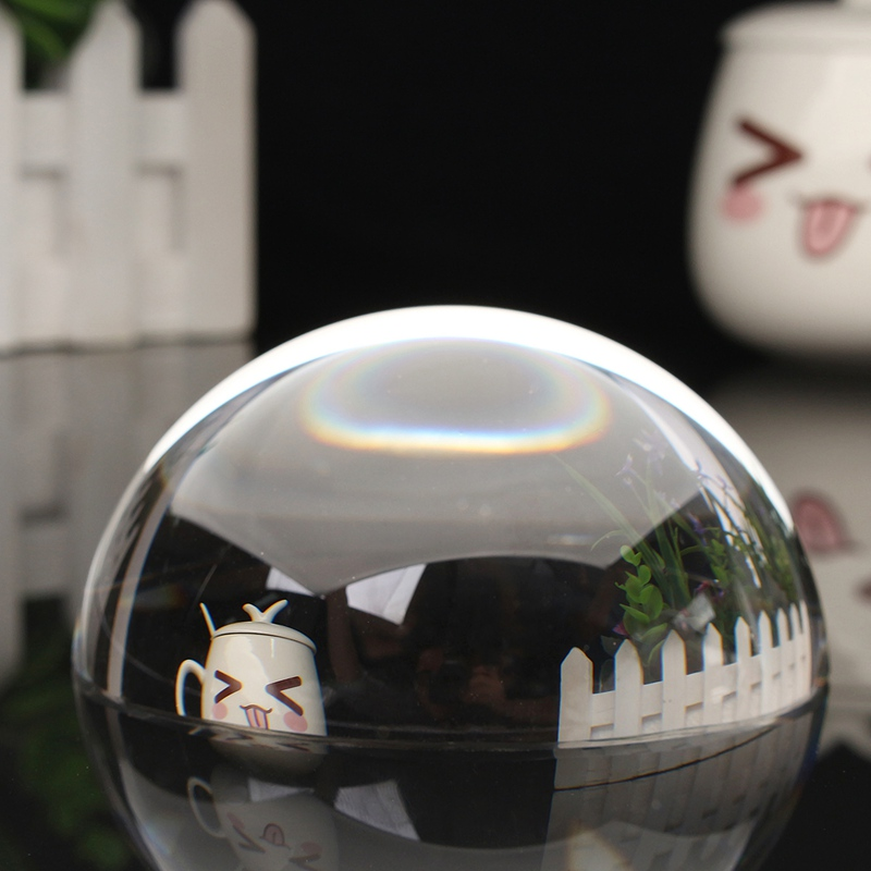 100mm Half Sphere Paperweight Crystal Glass Ball Home Decoration