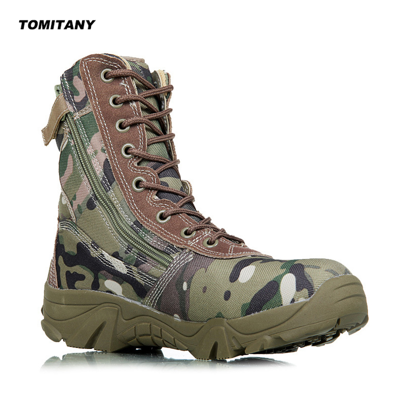 Outdoor Hiking Sneakers For Men Military Tactical Waterproof Camping Trekking Boots Mens Climbing Camo Sports Shoes цена