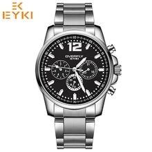 7726b66ea2c EYKI Luxo Marca Relógios Dos Homens Do Esporte de Três Pequeno Mostrador  Design À Prova D  Água Quartz Cinta de Aço Inoxidável R..