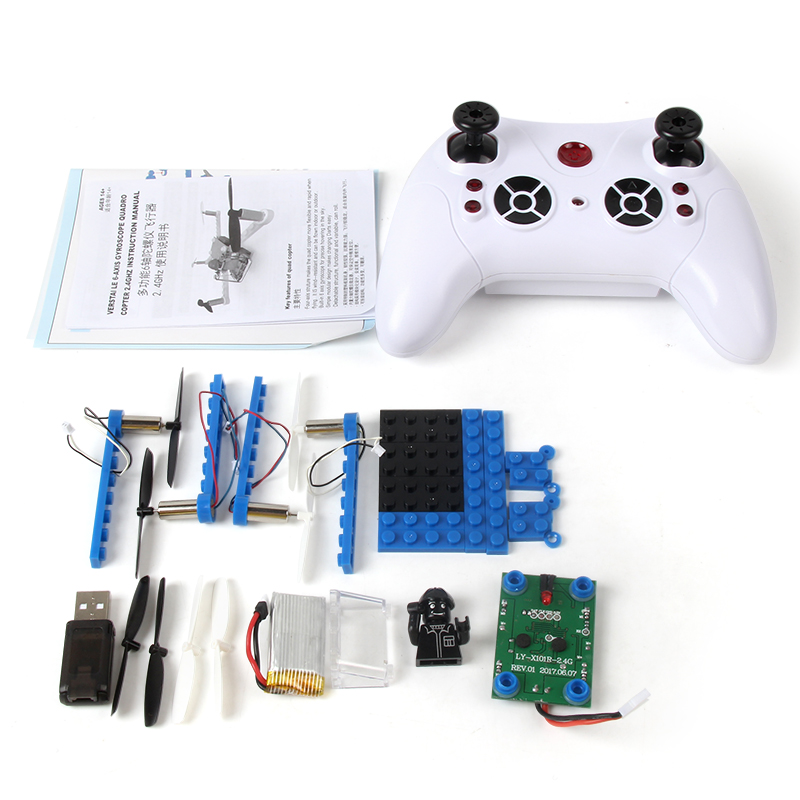X-101 DIY Drones Part Assembly Blocks 2.4G 4CH RC Drone Heli
