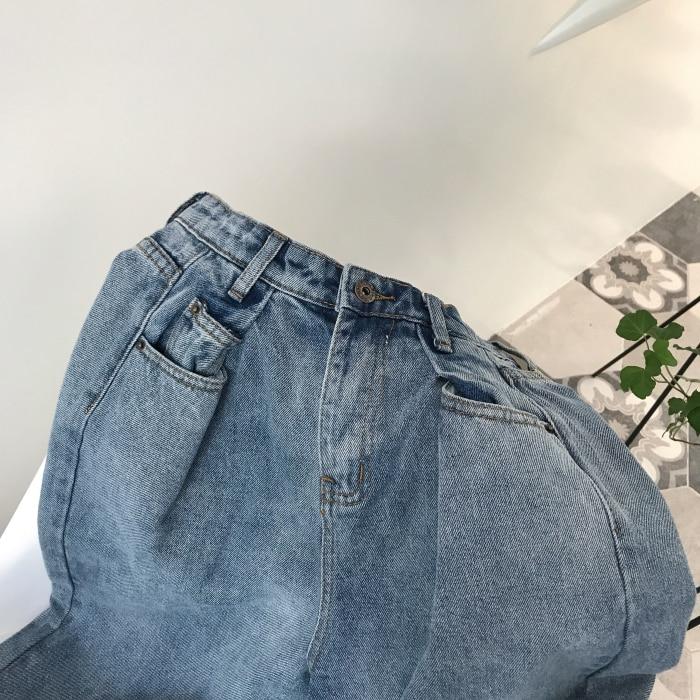 GUUZYUVIZ Loose Vintage Woman Jeans 17 Autumn Bleached Casual Boyfriend Curl Denim Wide Leg Pants Oversize High Waist Jean 15