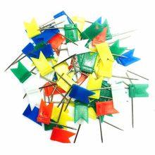 100 pçs/lote Bandeira Push Pins/Pinos dos Mapas, fácil acesso & storage-pinos estofados tachas-tachinha prego B364
