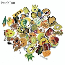 Patchfan 70pcs Yellow color funny cartoon Pvc Stickers For diy home decoration scrapbooking Luggage Skateboard Wall Guitar A1676