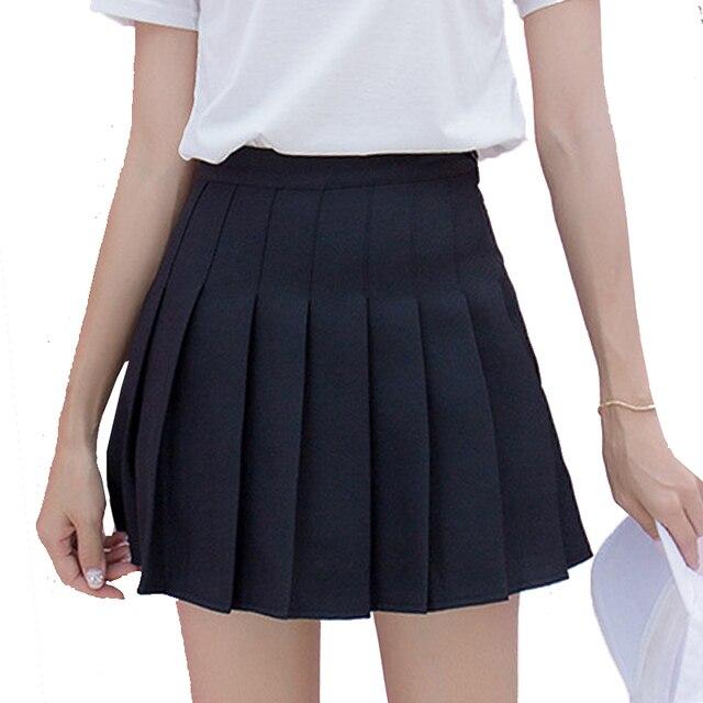 175da49bf Cute Japanese Preppy School Girls Skirts With Shorts Under Women Mini Saias  Sailor JK Uniform High Waist Pleated Skirt