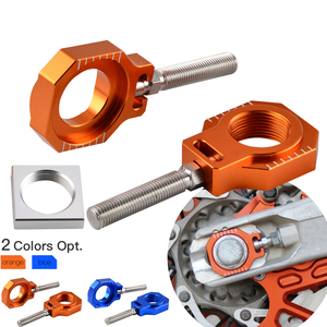 Rear Axle Block Chain Adjuster For KTM SX SXF EXC EXCF XC XCF XCW XCFW For Husqvarna TE FE TC FC 85 125 150 250 350 450 501 530(China)