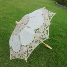 Diametre 29 CM choice Noble Elegant Palace Style Long Arm Wedding Bridal Umbrella/Embroidery Gingham Lace Parasol lace Umbrella