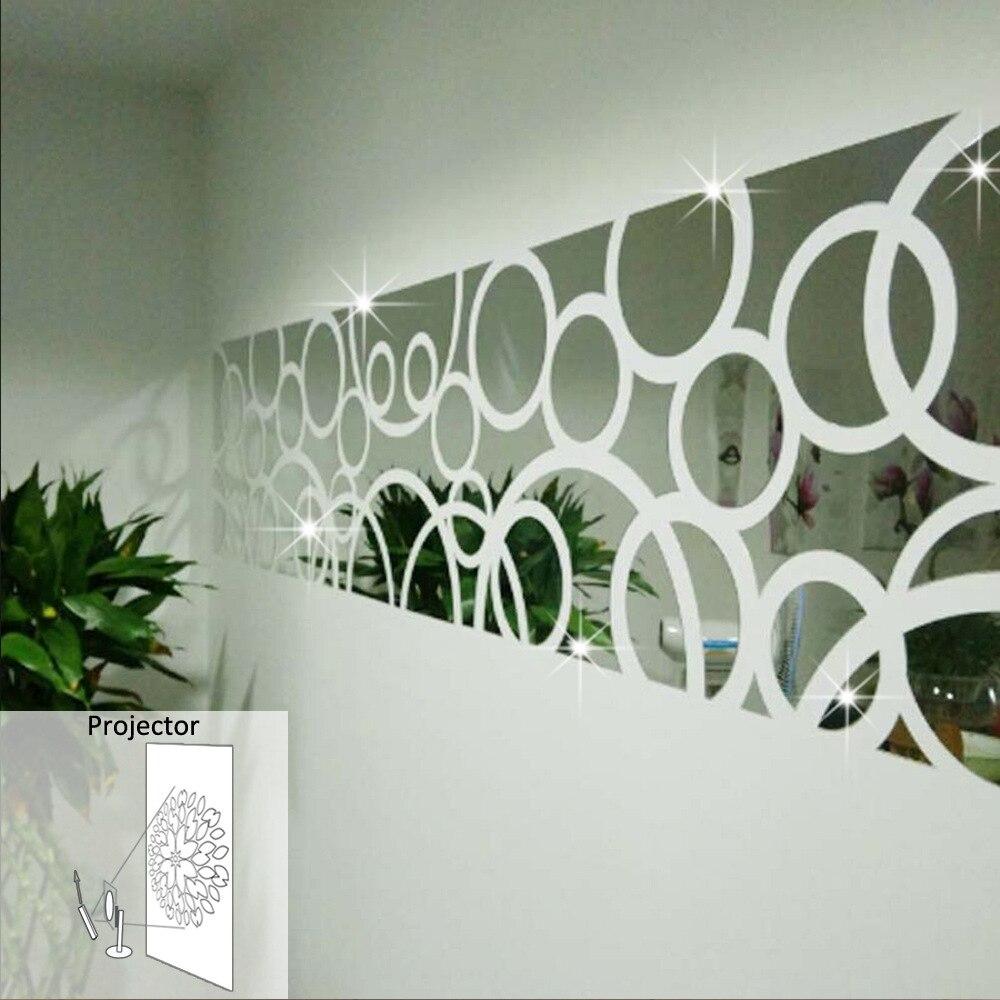 Rectangle Taille Muurstickers Home Decor Mur Décorations Salon Acrylique Miroir Stickers Muraux Adesivos Parede