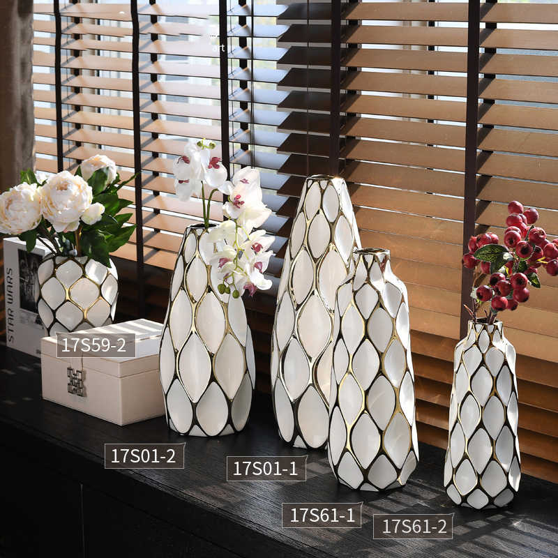 Модная белая керамическая пустая космическая ваза гидропоники сушеные цветы современный обеденный стол столешница цветок украшение бассейна