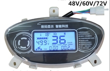 12-110v LCD display speedometer universal instrument for electric scooter motorcycle ATV indicator for voltage battery level odo
