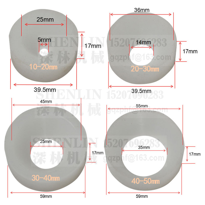 2 REPLACEMENT PARTS 30mm TO 40mm END CHUCK RUBBER INSERT PART FOR BOTTLE CAPPER