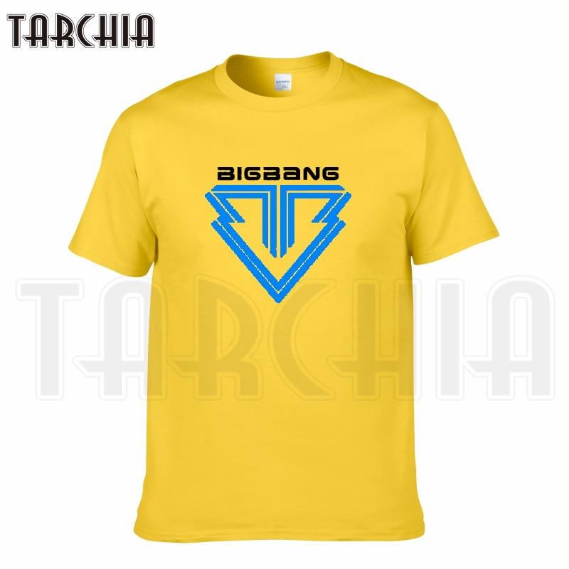 TARCHIA 2018 new brand bigbang music t-shirt cotton tops tees men short sleeve boy casual homme tshirt t shirt plus fashion