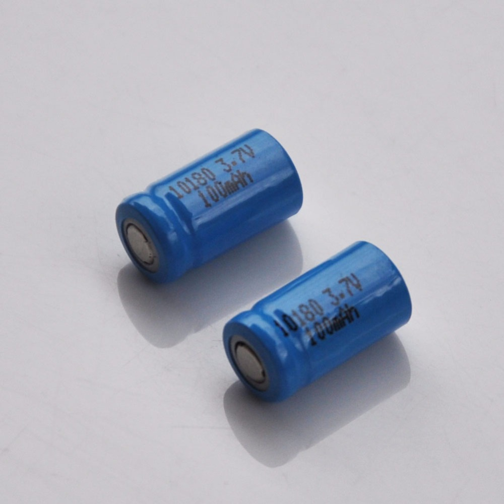 2-4PCS <font><b>3.7V</b></font> 10180 <font><b>lithium</b></font> ion rechargeable <font><b>battery</b></font> li-ion cell baterias pilas <font><b>100MAH</b></font> for led flashlight digital device image