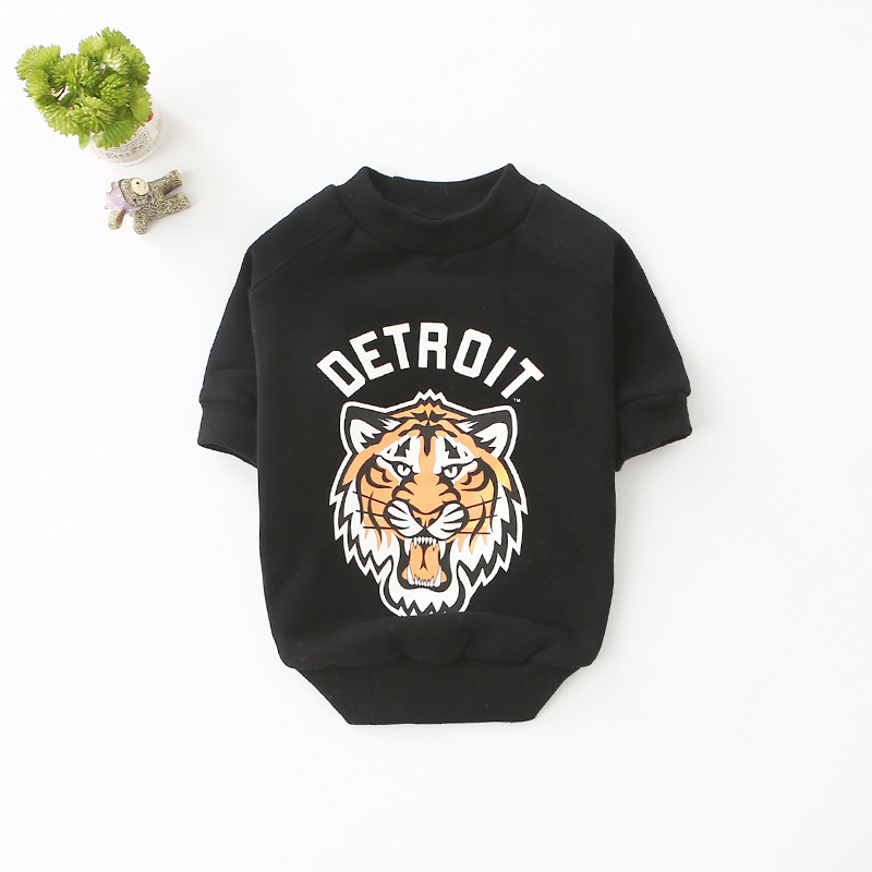 Spring and autumn bottoming shirt tide pet short-sleeved clothes dog sweater dog hoodie autumn and winter French bulldog cloth