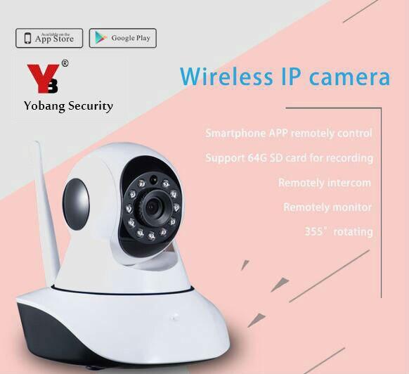 Yobang Security Newest indoor Wireless IP camera HD NIght Vision IP Camera Surveillance Camera Wifi camera-in Surveillance Cameras from Security & Protection    1