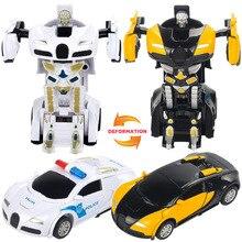 Mini Transformation Robot Car Series Plastic Kids Anime font b Action b font font b Figures