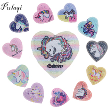 Pulaqi Cartoon Sequin Unicorn Sewing On Patches For Clothes Cute Things Backpacks Kids Decor Accessories F