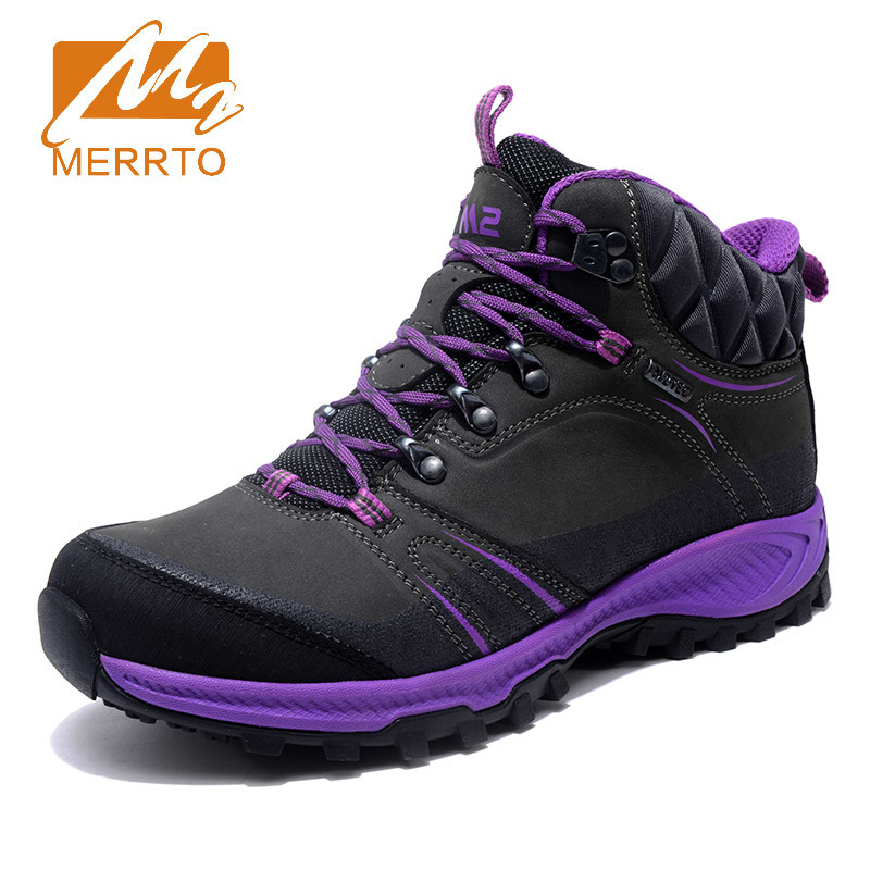 Merrto Women Waterproof walking Shoes Boots Professional Outdoor Cowhide Walking Shoes Boot Sneakers zapatillas for womenMT18696 2018 merrto women walking shoes waterproof outdoor shoes breathable sport shoes full grain leather for women free shipping 18251