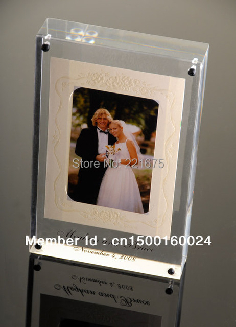 free shipping Magnetic 4x6 Acrylic photo frame wedding gift souvenir ...