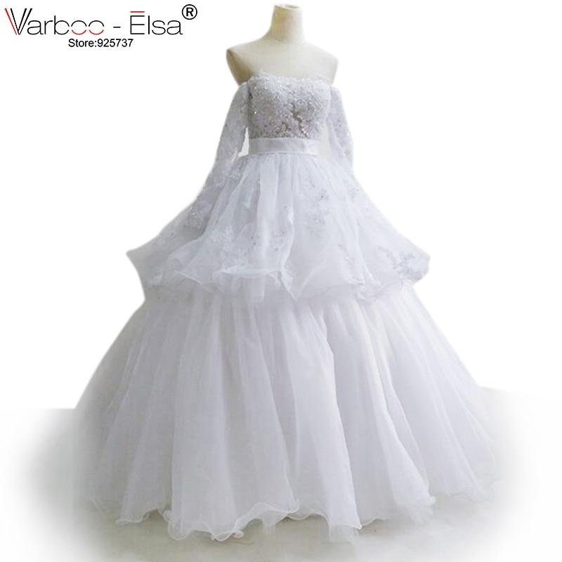 US $299 0 |yousef aljasmi corset style wedding dresses 2018 long sleeve  wedding dresses real sweetheart Ball Gown wedding dress plus size-in  Wedding