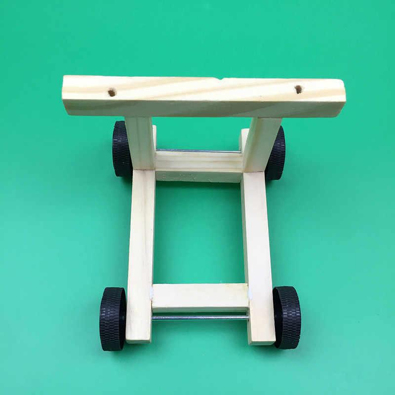 Happyxuan bricolage Kit de voiture électrique éolienne pour enfants bois Science éducative physique expériences Circuit maternelle tige jouets
