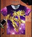 Mens & Womens Anime Saint Seiya Phoenix Ikki Impresión Camiseta de Algodón O de Cuello Camiseta