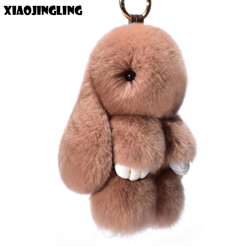 f2839c2819 Detail Feedback Questions about XIAOJINGLING Hot 12 Colors Rabbit Fur  Keychain For Child Gift Cut Fluffy Bunny DIY Bar Bag Key Chain Pompom  Pendant Toy ...