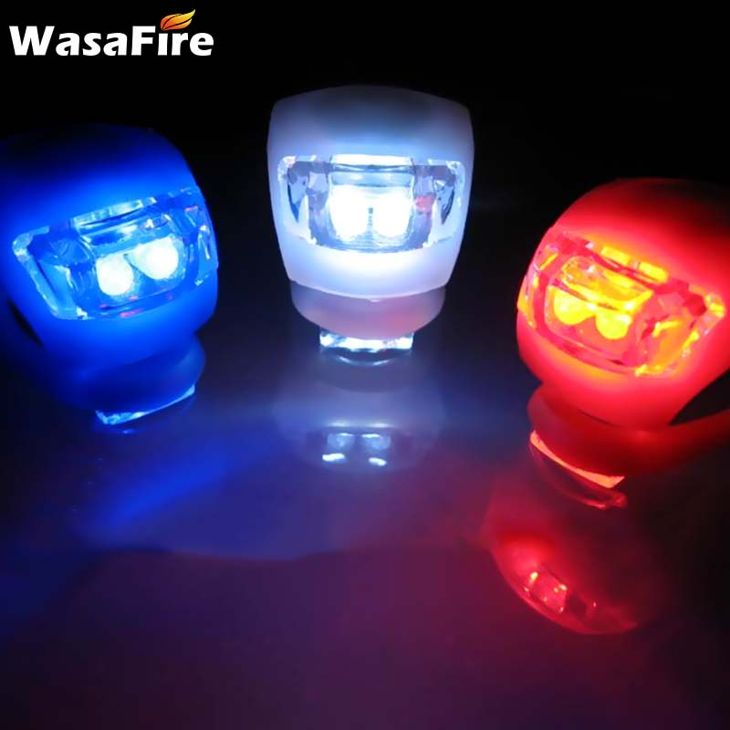 LED Bicycle Front//Rear Tail Lamp Safety Bike Flash Light Warning Lamp Silicone