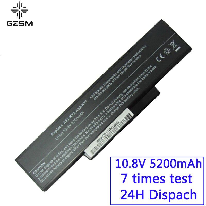 GZSM Laptop Battery K72 For Asus A32-K72 A32-N71 K72DR K72D K72F K72JR K73 Battery For Laptop K73SV K73S K73E N73SV X77V Battery
