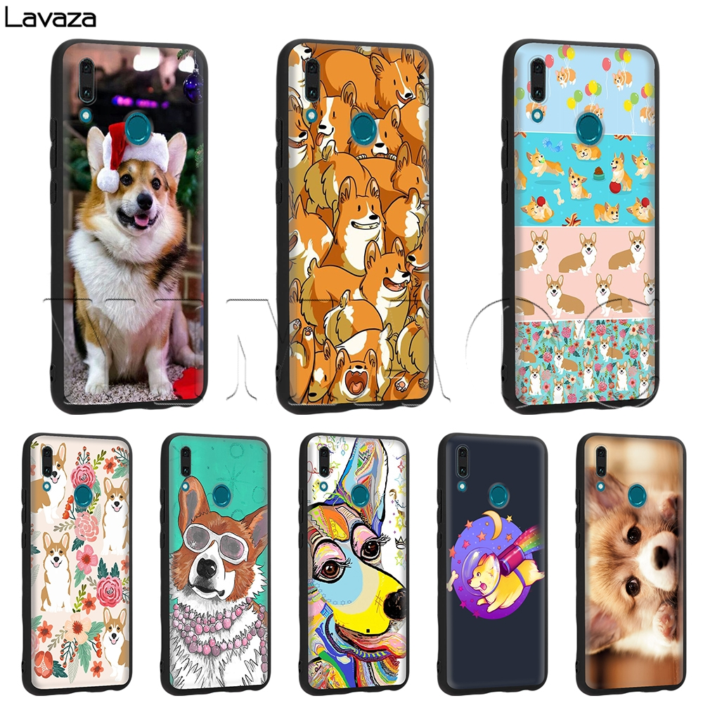 2019 New Style Lavaza Cute Corgi Dog Silicone Case For Huawei Mate Y7 Y9 P8 P9 P10 P20 Lite Pro P Smart Mini 2017 2019