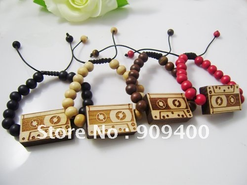 Good Wood Bracelets Shamballa Style Goodwood Bracelet Bangle Cette Tape Hip Hop Jewelry 100pcs