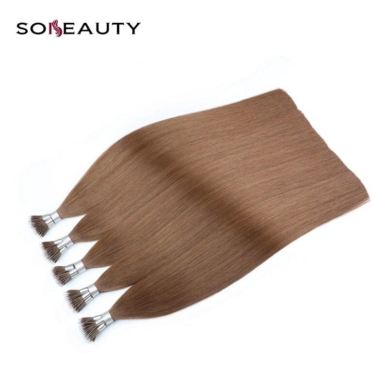 Nano Ring Haar 100% Remy Menschliches Haar Extensions 0,8 Gr/sek 16 18 20 europäischen Micro Haar 50 Teile/paket Haarverlängerung Und Perücken