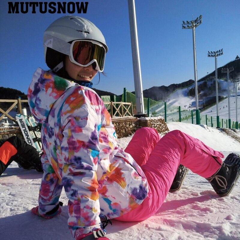 2019 nouvelle veste de Ski pantalon de Ski femmes coupe-vent imperméable à l'eau chaude hiver combinaison de Ski Sports de plein air Ski snowboard manteau vêtements