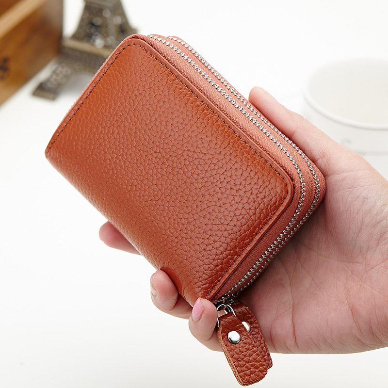a673b90abf US $11.32 45% OFF|JOYIR Double zipper Coin Purses Genuine Leather Women  Small Purse Wallet High Capacity Credit Card Holders For Female Card  Purse-in ...