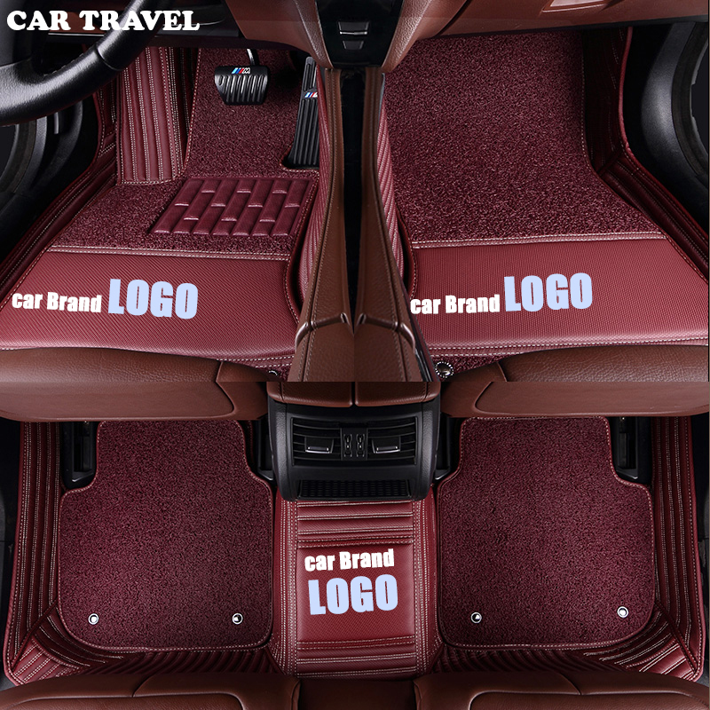 CAR TRAVEL custom car floor mats for Porsche LOGO Porsche Cayman Macan panamera Cayenne Boxster 718