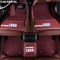 Alfombrillas de suelo de coche de viaje personalizadas para Porsche LOGO Cayman Macan panamera Cayenne Boxster 718 accesorios de coche- estilo
