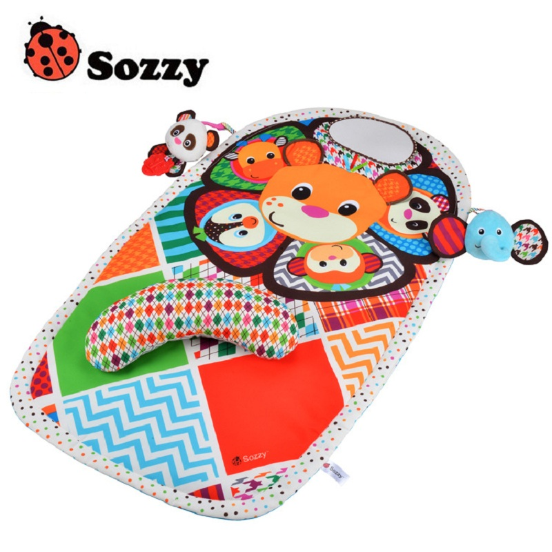 Sozzy Early Childhood Game Panda Mats Animal Plush Doll Blanket With Waterproof Changing Mats Game Blanket Panda Function