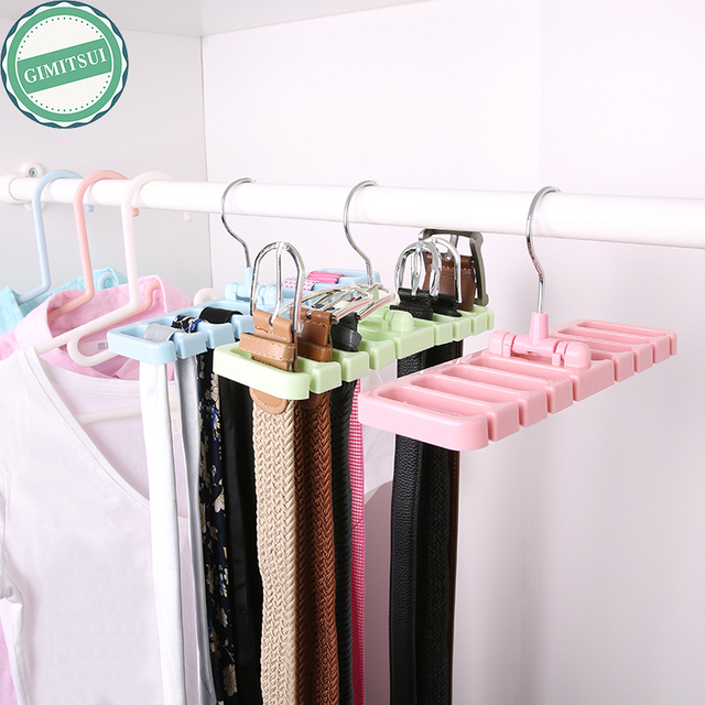 Great 8 Holes Plastic Belt Hanger Accessory Rack Closet Organizer Holder Storage  Belt, Tie, Scarf