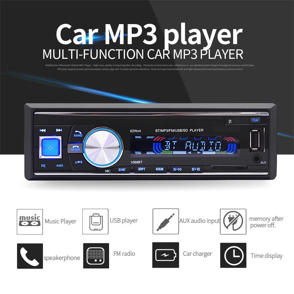 Bluetooth Wireless Car Stereo Radio Audio MP3 Player In