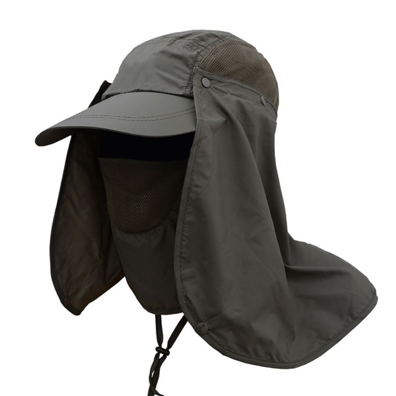 Outdoor Sport Fishing Hiking Hat UV Protection Face Neck Flap Man Sun Cap