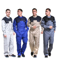 Men 100% cotton coverall workwear suit mining work wear overalls Plus Size mechanic carpenter repairman Siamese overalls 2019New