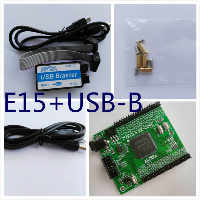 fpga development board EP4CE15E22C8N board altera fpga board altera board + USB Blaster module usb blaster v2 download cable altera fpga cpld usb blaster programmer debugger for altera cyclone from waveshare freeship