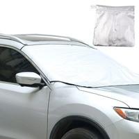 210 120cm Magnet Window Foils Windshield Sun Shade Car Windshield Visor Cover Front Rear Window Sunshade