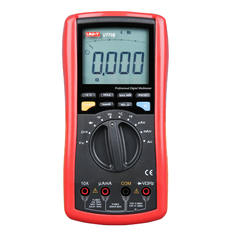 UNI-T UT70B LCD Digital Multimeter Auto Range frequency conductance logic test transistor temperature analog display uni t ut90c ut 90c low price best multimeter digital with lcd display